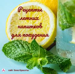 Рецепты летних напитков для похудения #зонакрасоты