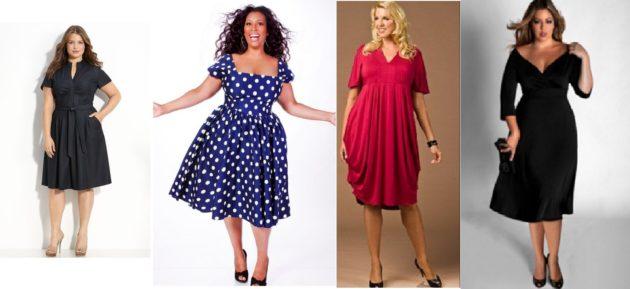 Как скрыть полноту одеждой - платья для полных девушек